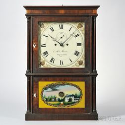 Miles Morse Four-column Mahogany Shelf Clock