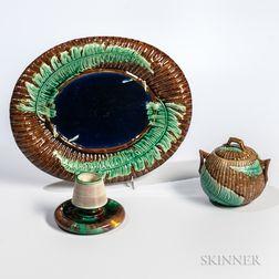 Three Majolica Ceramic Items