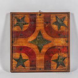 Star-decorated Parcheesi Game Board