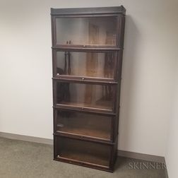 Hale Glazed Mahogany Five-stack Barrister Bookcase