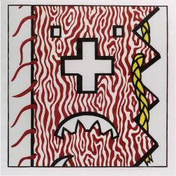 Roy Lichtenstein (American, b. 1923)  American Indian Theme IV