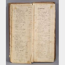 Rare Revolutionary War Account Book for the Privateer Ship Chandler