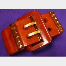 Bakelite Stretchie Buckle Bracelet, England