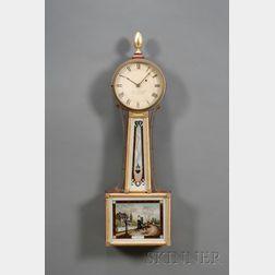"Mahogany Patent Timepiece or ""Banjo"" Clock by John J. Stowell"
