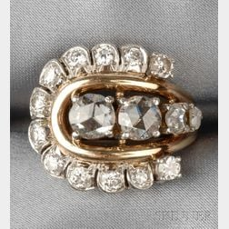 Retro 18kt Gold and Diamond Ring