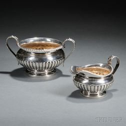 George III/IV Sterling Silver Creamer and Sugar