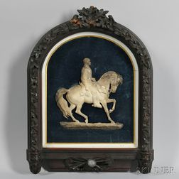 Cast Bronze and Parcel-silvered Profile Equestrian Portrait of Major General George B. McClellan