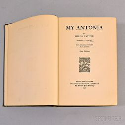 Willa Cather Signed My Antonia