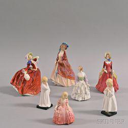 Seven Royal Doulton Figurines