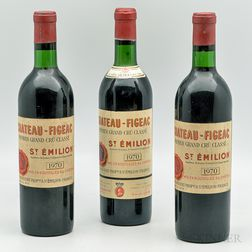 Chateau Figeac 1970, 3 bottles