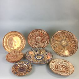 Ten Hispano Moresque-type Lustre Dishes