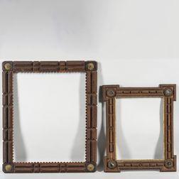 Two Large Tramp Art Frames