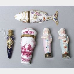 Five European Snuff and Perfume Bottles