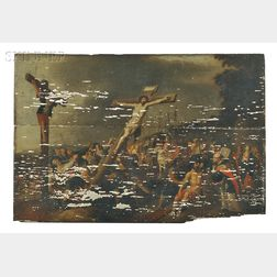 Attributed to Frans Francken III (Flemish, 1607-1667)      Raising the Cross