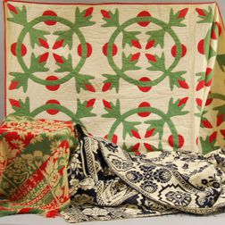 Two Coverlets and a Quilt