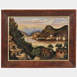 Thomas Chambers (New York/England, 1808-1869)      Hudson River View