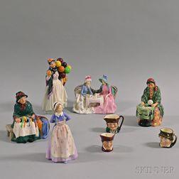 Eight Royal Doulton Figurines