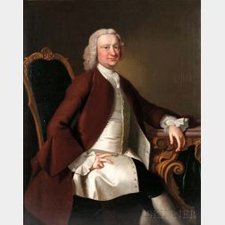 Thomas Hudson (British, 1701-1779)      Portrait of the Reverend Rhodes