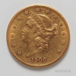 1900-S $20 Liberty Head Double Eagle