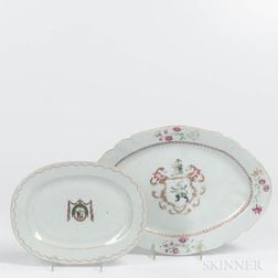 Two Armorial Export Porcelain Serving Dishes