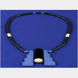 Art Moderne Style Galalith Necklace