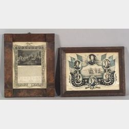 Two Framed Political Prints