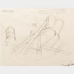 Mark di Suvero (American, b. 1933)      Study for a Sculpture
