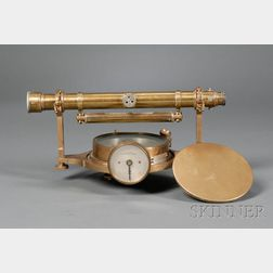 Brass Miner's Dial by Hall Brothers