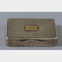 Small Silver Presentation Box