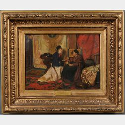 After Cesare Maccari  (Italian, 1840-1919)      The Fortune Teller ,  a copy by Miss S. W. Kelly