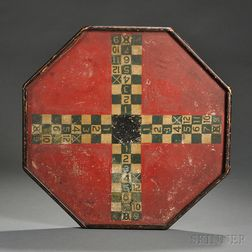 Octagonal Ludo Painted Game Board