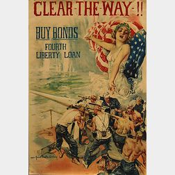 Howard Chandler Christy Clear The Way!   WWI Lithograph Poster