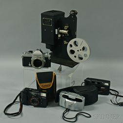 Four Cameras and a Projector