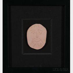 Pablo Picasso (Spanish 1881-1973) Face Medallion