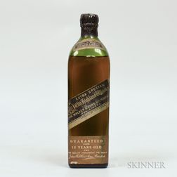 Johnnie Walker Black Label 12 Years Old, 1 bottle