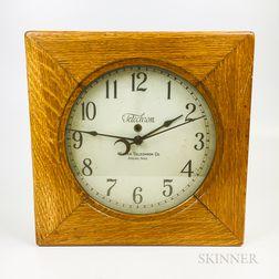 Warren Telechron Oak Wall Clock