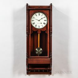 "Seth Thomas Cherry ""Queen Anne"" Wall Clock"