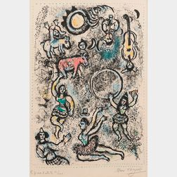 Marc Chagall (Russian/French, 1887-1985)      Les Saltimbanques