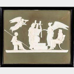 Five Framed Wedgwood Jasperware Plaques