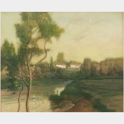 William Jurian Kaula (American, 1871-1953)  Evening