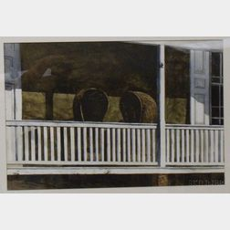 Framed Watercolor, Rickerts Porch,   by Patrick King