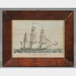 Nathaniel Currier, publisher (American, 1813-1888)      U.S. FRIGATE CONSTITUTION.