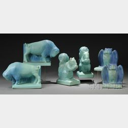 Three Pairs of Bookends Attributed to Van Briggle