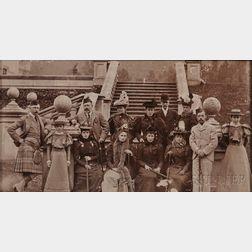 Collodion Print of Tsar Nicholas II with the British Royal Family