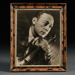 Heifetz, Jascha (1901-1987) Signed Photograph, 26 February 1938.