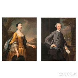 Thomas Hudson (British, 1701-1779)      Pair of Portraits: Mr. James Hilhouse of Cornwallis House, Clifton