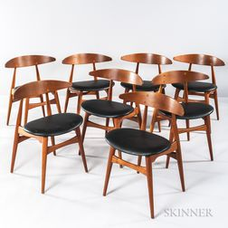 Eight Hans Wegner Dining Chairs