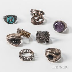 Eight Gentlemen's Rings