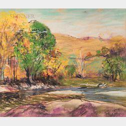 Arthur Clifton Goodwin (American, 1864-1929)      Autumn Landscape