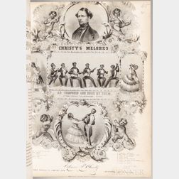 Minstrel Show Sheet Music, a Collection of Approximately Fifty.